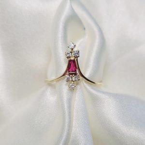 YELLOW-GOLD-PINK-TOURMALINE-DIAMOND-RING