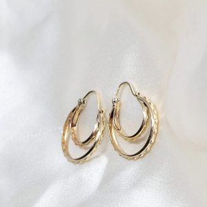 9K YELLOW GOLD HOOPS
